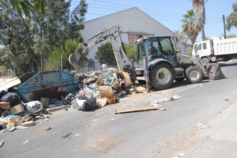 Sanayi Bölgesi'nde çevre temizliği