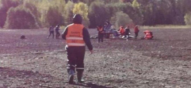 Dünya Ralli Şampiyonası'nda helikopter düştü