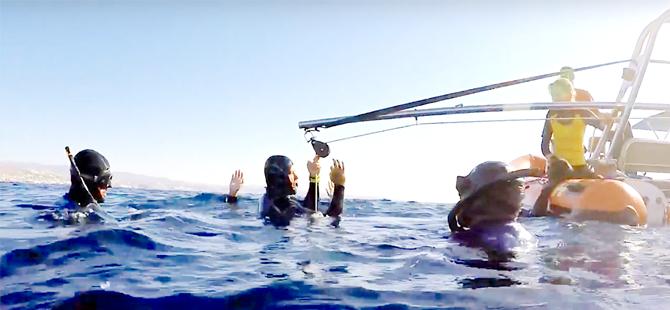 Uluslararası serbest dalışa Beydağlı ve Bıyıklı damgası