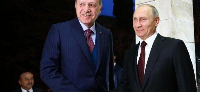 Erdoğan: Putin'le Suriye'de siyasi çözüm için mutabıkız