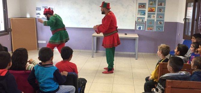 Çocuklar Karagöz ve Hacivat ile buluştu