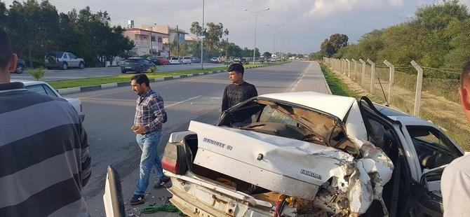 Gazimağusa-İskele yolunda trafik kazası!