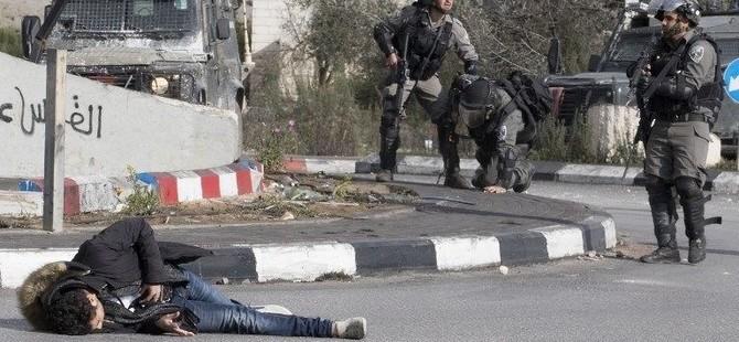 İsrail polisi Filistinli protestocuyu canlı yayında vurdu