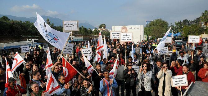 Alsancak Belediyesi, Lapta – Girne anayolu için eylem yaptı