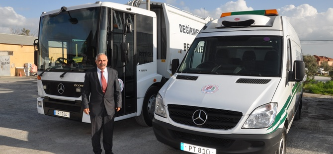 Değirmenlik Belediyesi araç filosu genişliyor