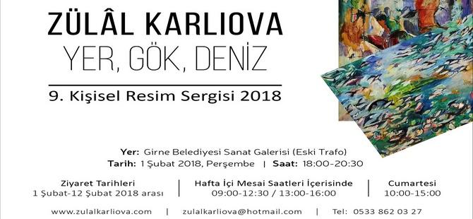 Sanatçı Zülal Karlıova'nın kişisel resim sergisi yarın Girne Belediyesi Sanat Galerisi'nde açılıyor