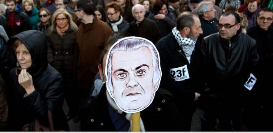 İspanya'da iktidar partisi karşıtı gösteri
