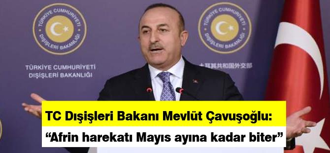 """""""Afrin harekatı Mayıs ayına kadar biter"""""""