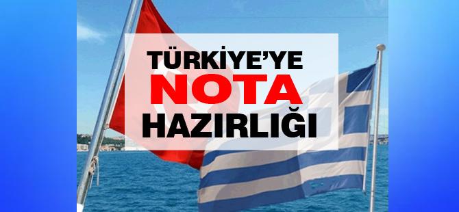 Türkiye'ye nota hazırlığı