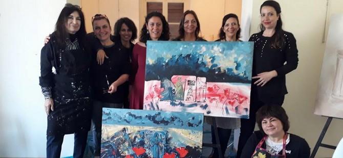 IV. Uluslararası Kadın Sanatçılar Sanat Buluşması'na katılan sanatçıları ziyaret ettiler