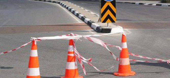 Lefkoşa'da Yenişehir trafik ışıkları kavşağı çalışmalardan dolayı trafiğe kapatıldı