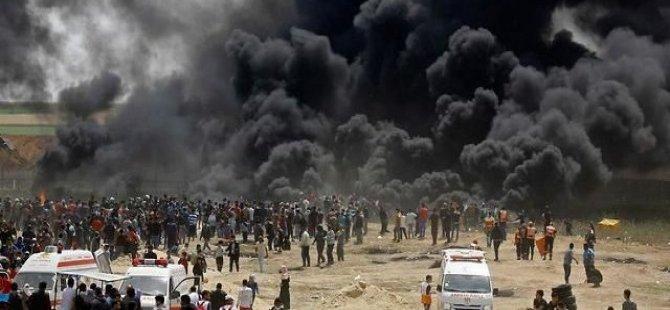 İsrail Filistinlilere saldırdı:112 yaralı