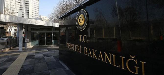 Türkiye Dışişleri Bakanlığı: Operasyon yerinde bir tepki