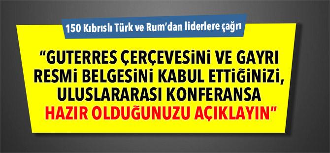 150 Kıbrıslı Türk ve Rum'dan liderlere çağrı