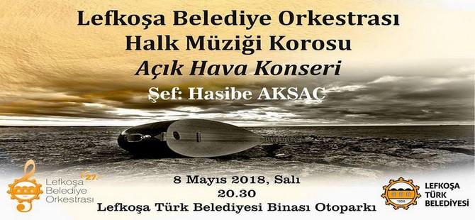 Lefkoşa Belediye Orkestrası açık hava konseri düzenliyor