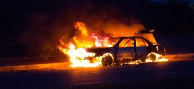 Limasol'da dün sabaha karşı 3 araç ateşe verildi