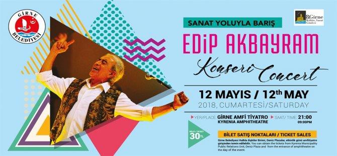 Edip Akbayram Cumartesi Girne'de