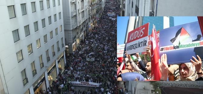 Türkiye'nin dört bir yanında Gazze saldırıları kınandı