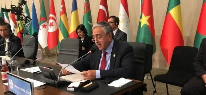 Cumhurbaşkanı Akıncı İİT toplantısında konuştu