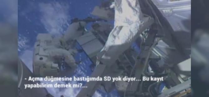 Uzaya gönderilen astronottan şaşırtan soru…