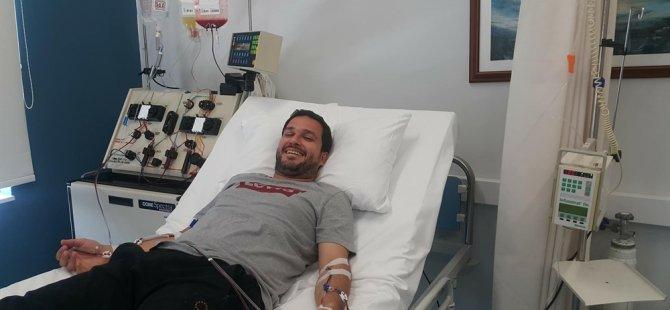 Donör Uğur Biren'den kanserle mücadeleye katkı...