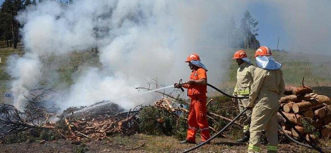 Orman yangınlarına hazırlık tatbikatı yarın icra edilecek