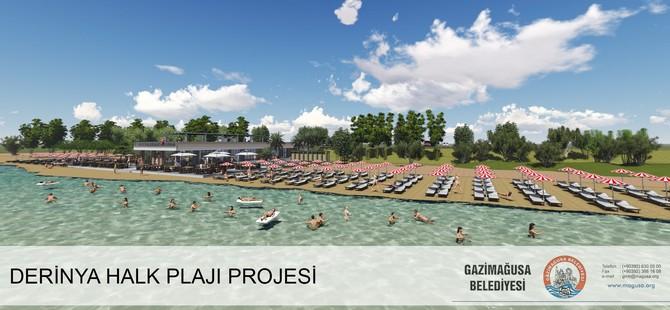 Gazimağusa Belediyesi Derinya Halk Plajı'nda deniz sezonu açıldı