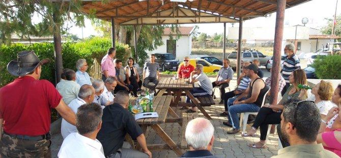 Bican ve belediye meclis üyesi adayları ziyaretlerini sürdürüyor