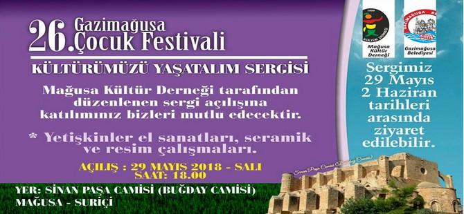 """Gazimağusa'da """"Kültürümüzü Yaşatalım"""" sergisi açılıyor"""