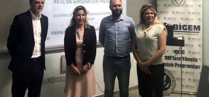 """""""KKTC'DE III. girişimcilik hibe projesi"""" GİRNE'de tanıtıldı"""