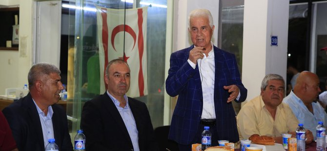 UBP Lefkoşa belediye başkan adayı Sertoğlu çukurovalılar dayanışma derneği iftar yemeğine katıldı
