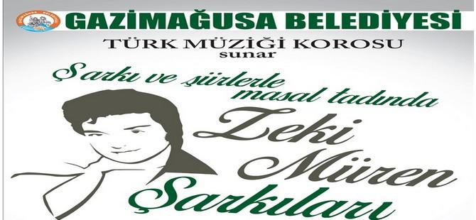"""Gazimağusa Belediyesi Türk Müziği Korosu """"Zeki Müren Şarkıları""""yla sahnede"""