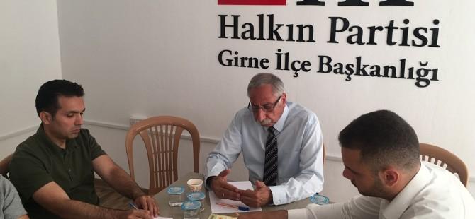 Girne Bağımsız Belediye Başkan Adayı Güngördü, HP'yi ziyaret etti
