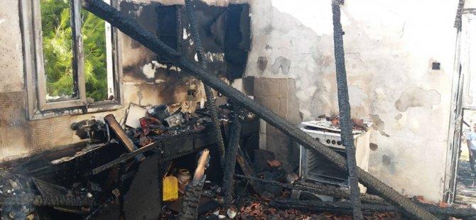 Doğancı -Taşpınar yolu üzerinde bulunan bir evde yangın çıktı