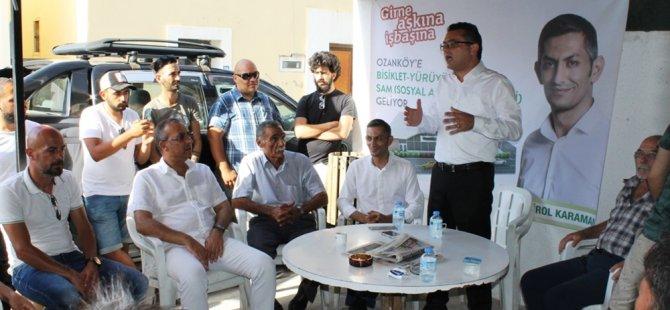 CTP Girne Belediyesi Başkan adayı Karaman Ozanköy'deydi