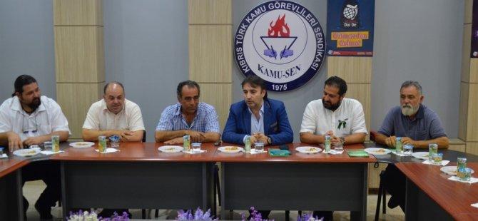 CTP Lefkoşa meclis adayları Kamu-Sen'i ziyaret etti