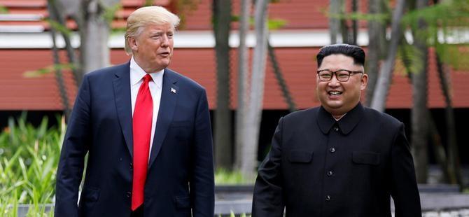 Trump ve Kim anlaşma imzaladı