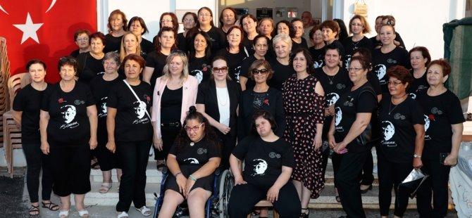 Meral Akıncı, Serdarlı, Görneç ve Nergisli köy kadın kursları sergisini açtı
