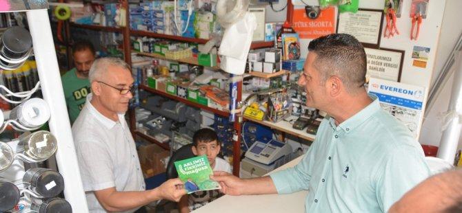 Adalıer Larnaka Yolu'nda esnaf ziyaretlerinde bulundu