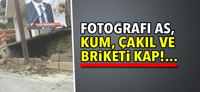 Fotoğrafı as, kum, çakıl ve briketi kap!...