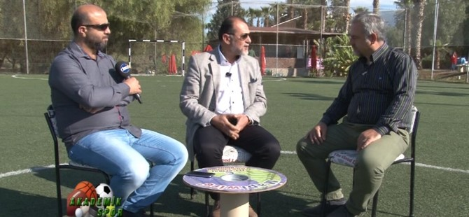 """DAÜ Akademik Spor programinda """"Kıbrıs Türk FutbolundaAltyapı Çalışmaları"""" konuşuldu"""