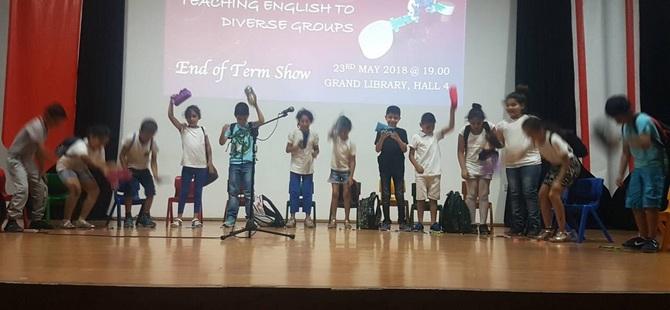 YDÜ'de Farklı Gruplara İngilizce Dili Öğretimi Projesi Yıl Sonu Gösterisi Yapıldı