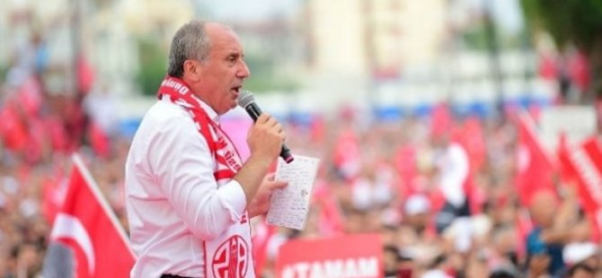 """İnce: """"Erdoğan'ın kazandığını kabul ediyorum"""""""