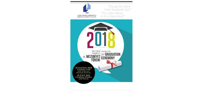 LAÜ 2017-2018 Akademik Yılı Mezuniyet Töreni 28 Haziran'da yapılıyor