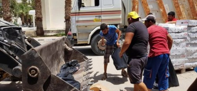 Gazimağusa'da 8 ton kaçak et