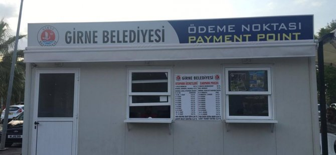 Girne Belediyesi trafik cezalarını Baldöken Otoparkı'nda tahsil ediliyor