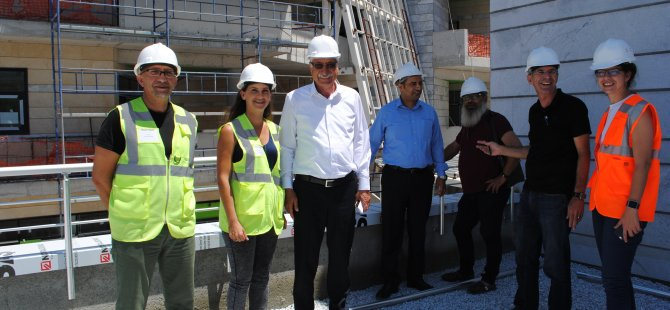 Girne Belediyesi yeni hizmet binası projesinin yüzde 80'İ tamamlandı