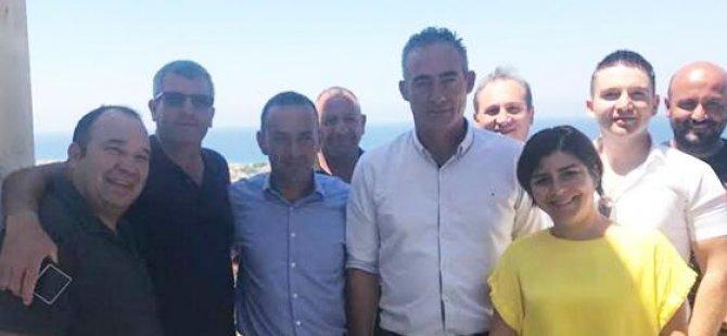BES Lapta Belediye Başkanı Mustafa Aktuğ'u ziyaret etti