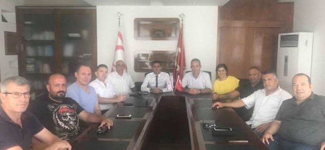 Bes Alsancak belediye başkanı Fırat Ataser'i ziyaret etti