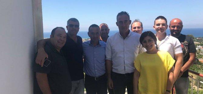 Bes heyeti, Lapta belediye başkanı Aktuğ'u ziyaret etti